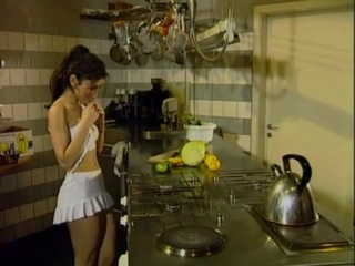 Sibel butt-banged in the kitchen