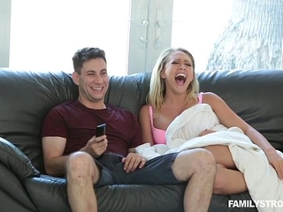 Ultra-kinky step-mom Kagney Linn Karter tears up his son-in-law while father is sleeping